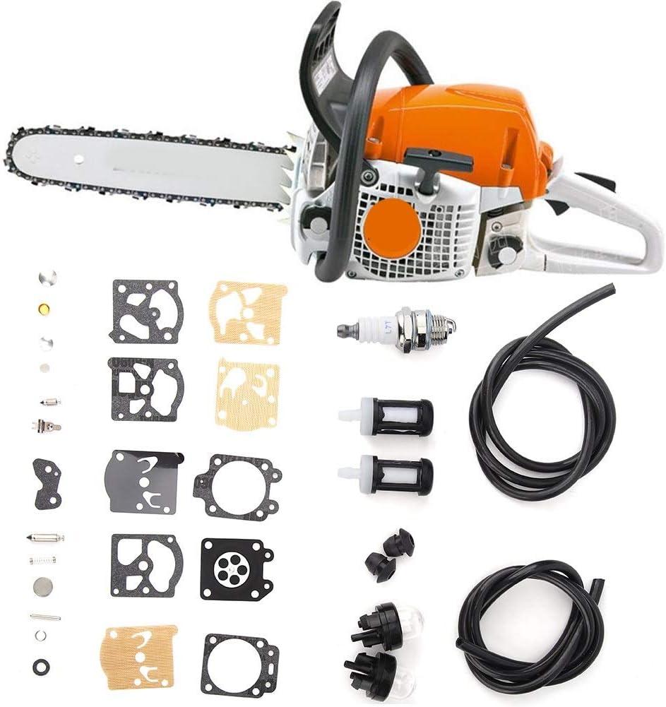 Rockyin Reparaci/ón del carburador Filtro Fit Kit for STIHL FS36 FS40 FS44 Cortadora de cesped reemplazo