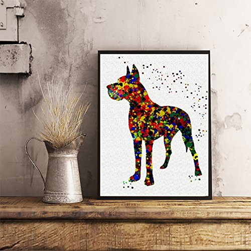 Great Dane Watercolor Posters Dog Art Prints Wall Decor Artworks Wall Art Dining Room Art Wall Hanging Kitchen Decor House Warming Gift