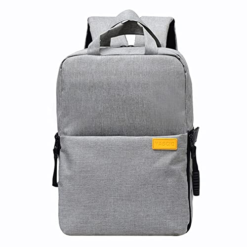 YuHan Oxford Multi-function Waterproof Anti-shock SLR/ DSLR Camera Backpack Smart Photography Video Bag Travel Rucksack for Nikon Canon Sony Pentax Sony Camera with Rain Cover Grey