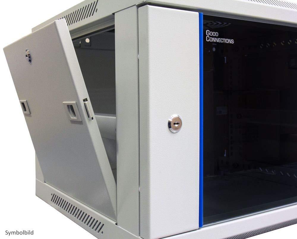 40 x 80 mm Stahl verzinkt mit Seitlich versetzter Montageplatte zur strukturierten Kabelf/ührung im Netzwerk-//Serverschrank Good Connections Kabelf/ührungsb/ügel
