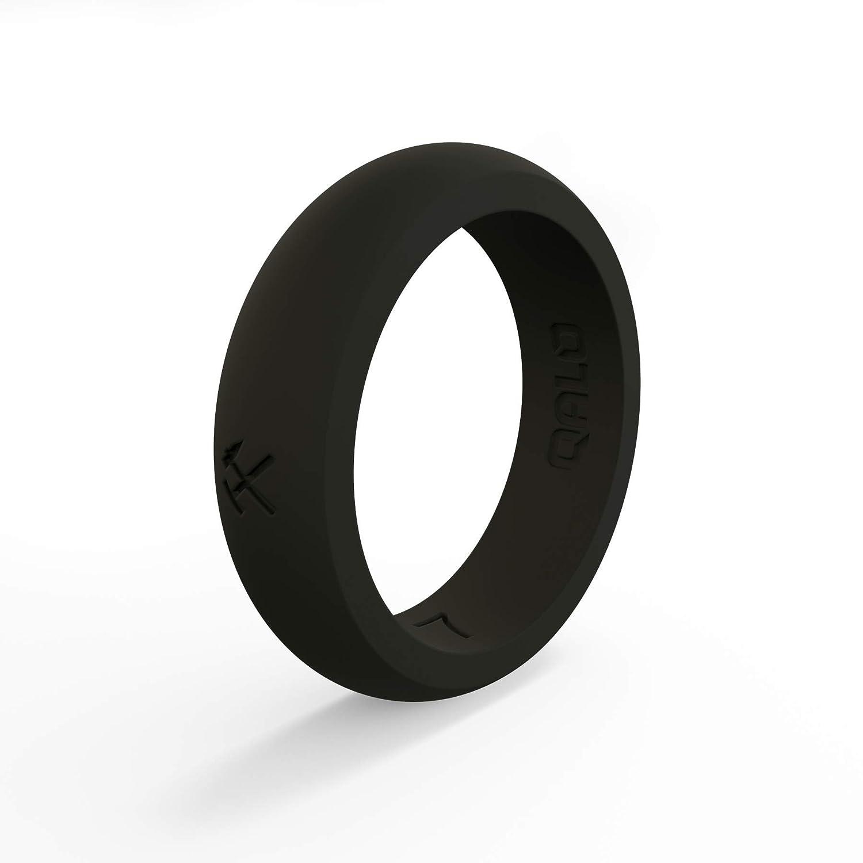 専門ショップ QALO-レディースシリコンリング(品質は、陸上競技、愛とアウトドア)は7-18のサイズを Ring Ring B076SRJ7PG Q2X Black Black - Silicone Ring 4 4|Q2X Black - Silicone Ring, 好評:2faf29ed --- arianechie.dominiotemporario.com