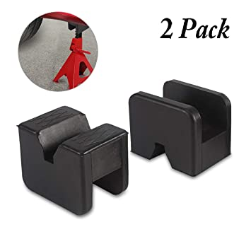 2X Rubber  Jack Pads Car Pad Universal for Protect Vehicle with Grooves...