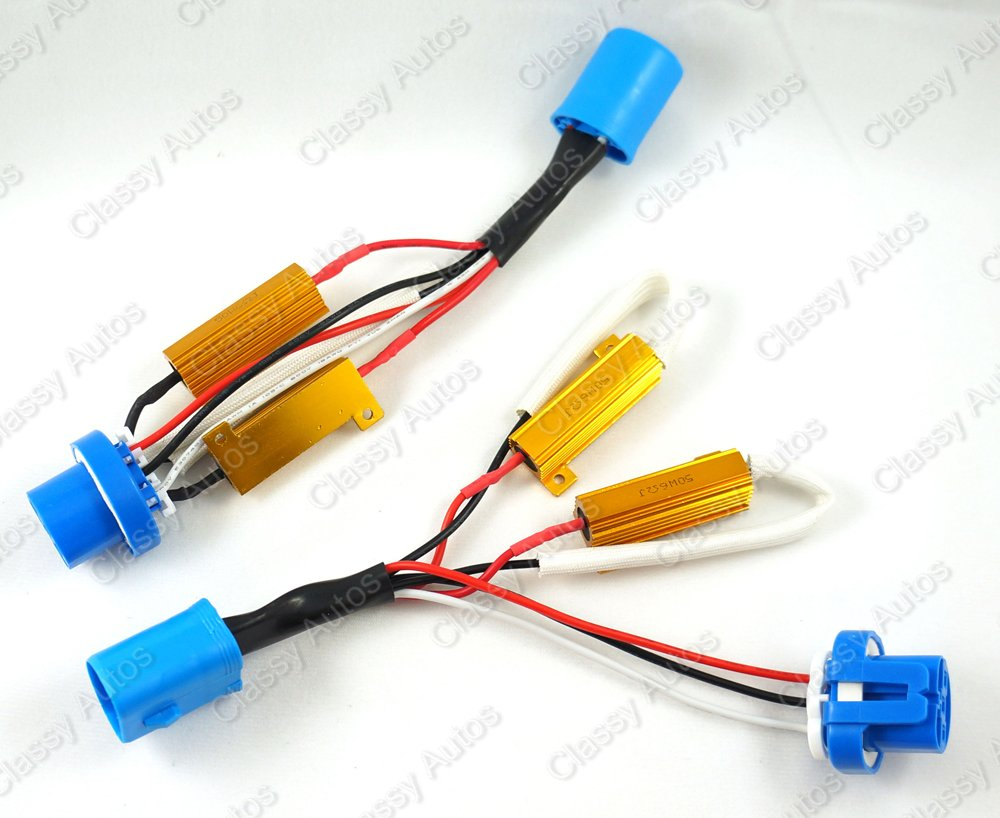 Classy Autos 9004 9007 Hid Conversion Kit Error Free W Relay Wiring Diagram Picture Load Resistor Harness Adapter 2 Pieces Automotive