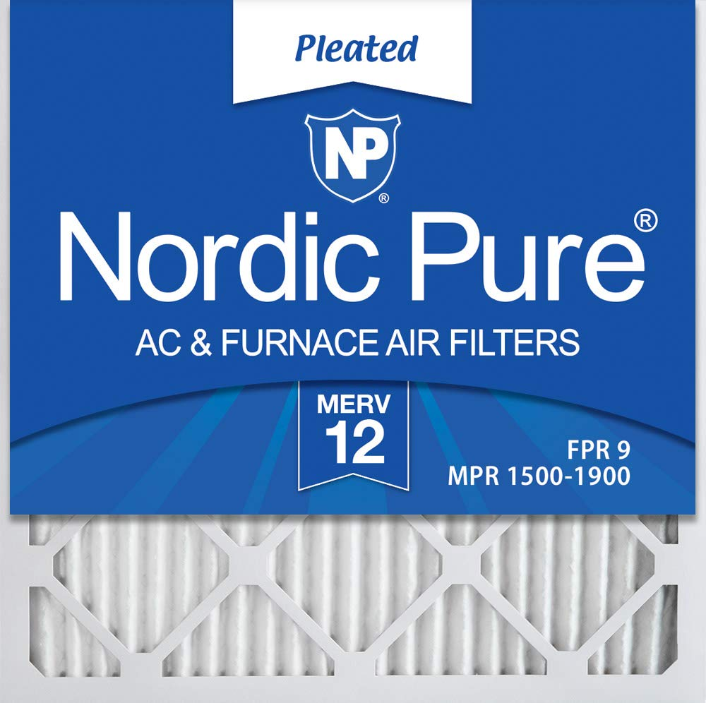 Nordic Pure 20x20x1 MERV 12 Pleated AC Furnace Air Filters, 20x20x1M12-6, 6 Pack by Nordic Pure
