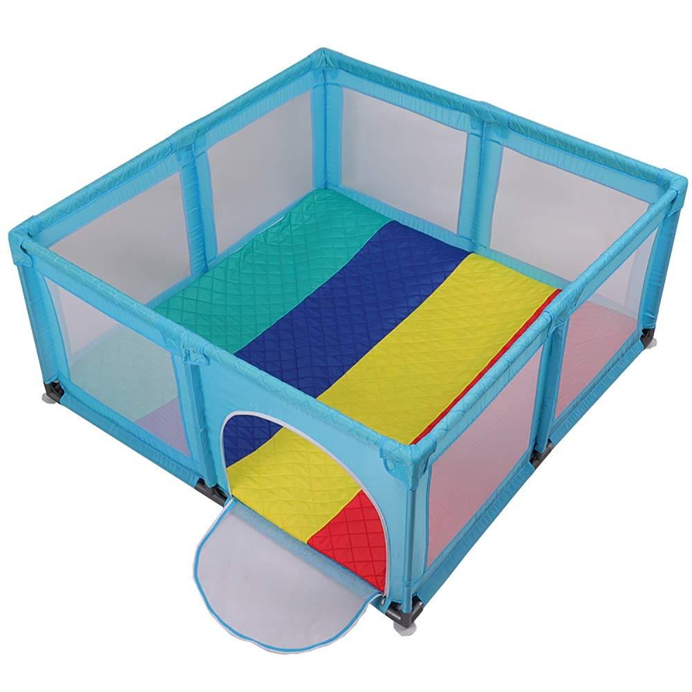 訳あり プレイ盤 (色 厚さの増加するマットが付いている安全赤ん坊のベビーサークル、反衝突の幼児はドアが付いているゲームの塀、150×150×70 cmをします (色 B07PK6ZYQ7 : 青) 青 cmをします B07PK6ZYQ7, トヨナカチョウ:bd24c319 --- a0267596.xsph.ru
