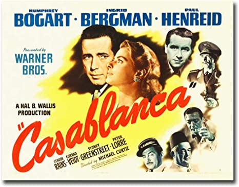 Amazon.com: Casablanca Movie Poster by Hollywood Photo Archive Premium  Gallery-Wrapped Canvas Giclee Art (24 in x 32 in, Ready-to-Hang): Posters &  Prints