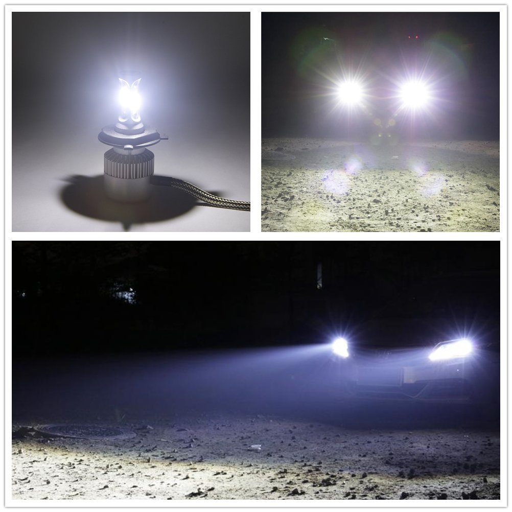 H4 H4 Bombillas led coche 72W 8000LM White 6500K Super brillante Kit de conversi/ón de bombillas