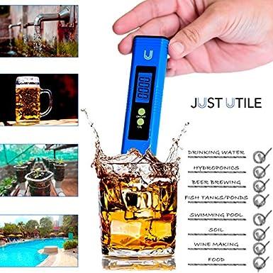 Medidor Digital de PH - Comprobador de calidad del agua, 0,01 alta precisión y ATC, X6 calibración paquetes - Pre calibrado pH Medidor de agua, piscina, ...