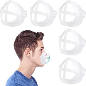 Mask Inner Support Frame, 3D Mask Bracket Silicone Mask Support Reusable Lipstick Protection Stand, 5 PCS