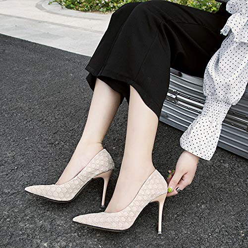 Moda de Alto Jqdyl tacón Mujeres Alto Punta Novia Zapatos Aguja de en de Zapatos Rojos Las Zapatos Zapatos de de tacón nuevos de 6rzxtnzP0q