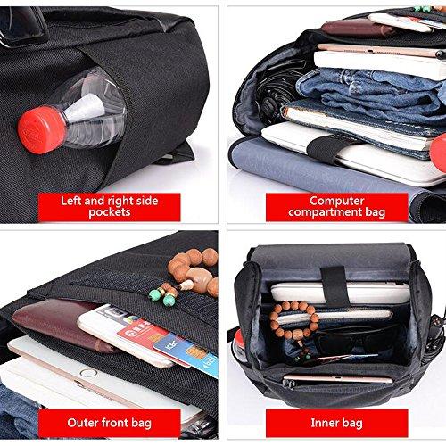 Bolsas Laptop School Travel Tablet Kikiya Daypack Negro Mochila Casual Bag wHBq8I