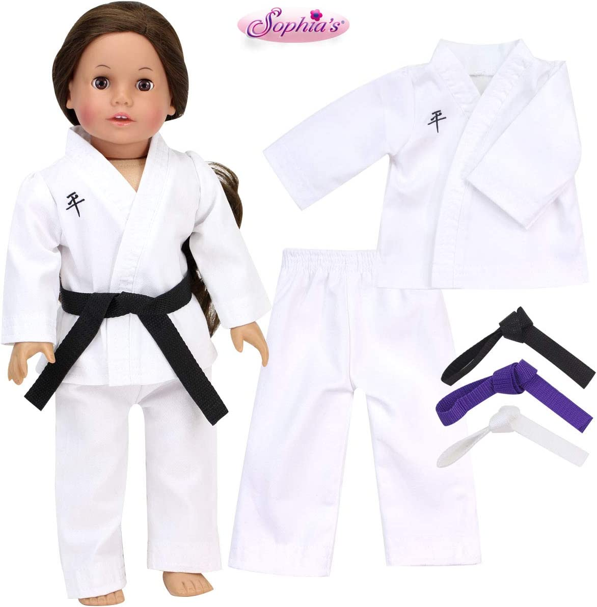 "18/"" Doll Clothes Karate PANTS /& TOP  fits AMERICAN GIRL"