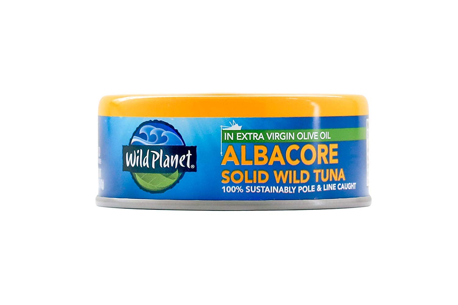 Wild Planet Albacore Wild Tuna in Extra Virgin Olive Oil – 5oz Can (Pack of 12)