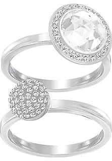9144fd765 Swarovski Hote Women's Ring Metal with Swarovski Crystals (Silver)