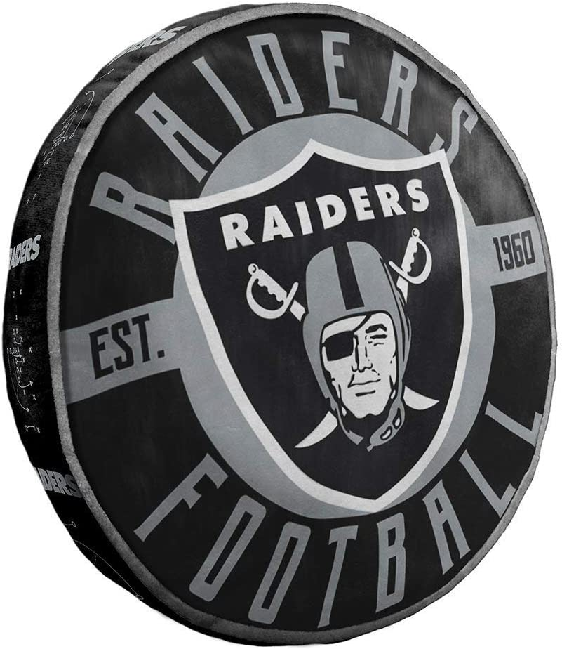 Northwest NFL Oakland Raiders Cloud to Go StylePillow, Team Colors, One Size