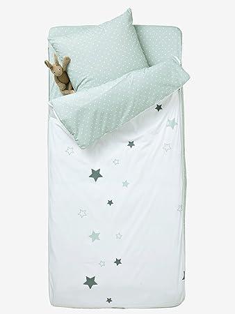 VERTBAUDET Saco de Dormir con nórdico Burbujas Blanco/Gris 90: Amazon.es: Hogar