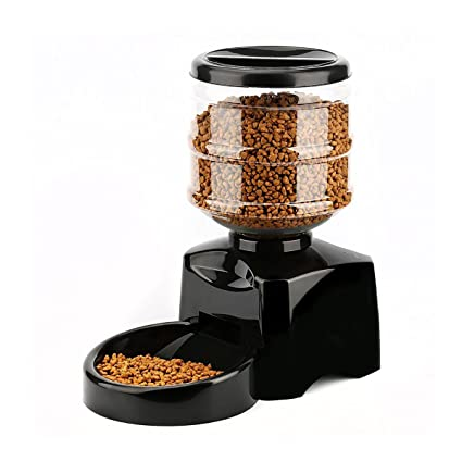 PETCUTE 5.5 Liters LCD Automatic Pet Dog Cat Feeder Food Bowl Auto Holiday Dispenser Voice Recorder