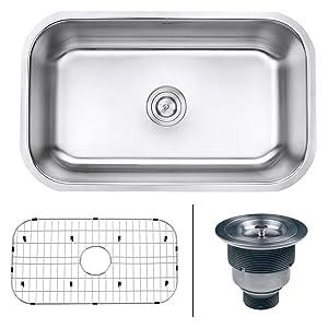 Ruvati 30-inch Undermount 16 Gauge Stainless Steel Kitchen Sink Single Bowl - RVM4250