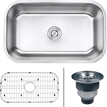 VIGO VGR3019CK1 Mercer 30 inch Undermount Stainless Steel Kitchen ...