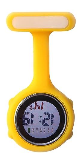 Ellemka JCM-330 - Reloj de Enfermera Digital FOB Moviemento de Cuarzo Multi-Funcional Programable con la Broche FOB de Silicona Goma Doctor Para-Médico ...