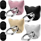 DanziX D03 Cell Phone Ring Stands Mount , 4 Pack Universal Finger Grip Holders for iPhoneX 8 7 Plus 6 6S 5 5C 5S Ipad, Samsung Galaxy S8 S7 Edge, Smartphone,Tablet- Rose Gold, Gold,Silver,Black