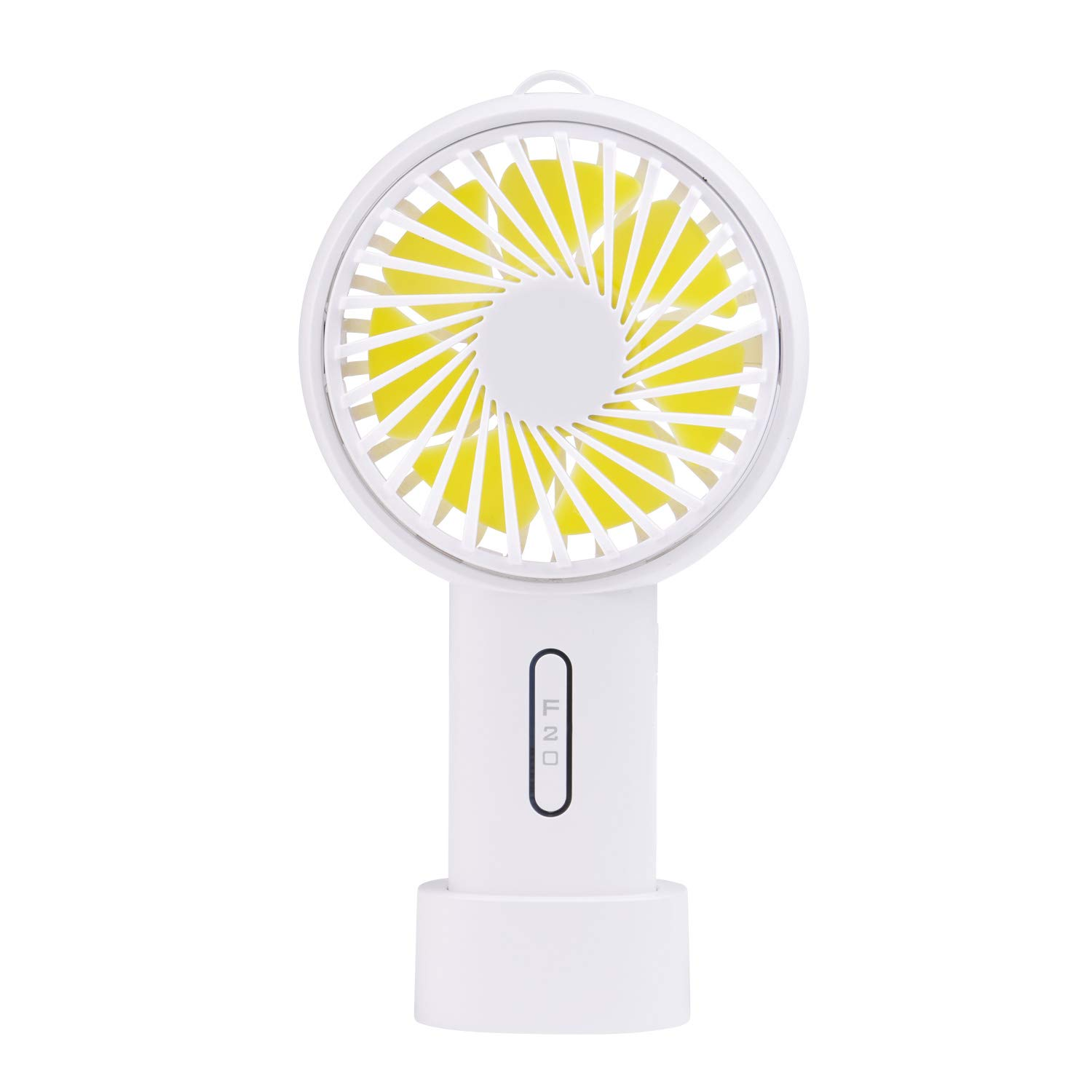 Mini Handhold Fan, l'aise vie 2600mAh Battery Personal Fan USB Rechargeable Electric Fan with Adjustable 3 Speeds Suitable for Home and Travel (White)