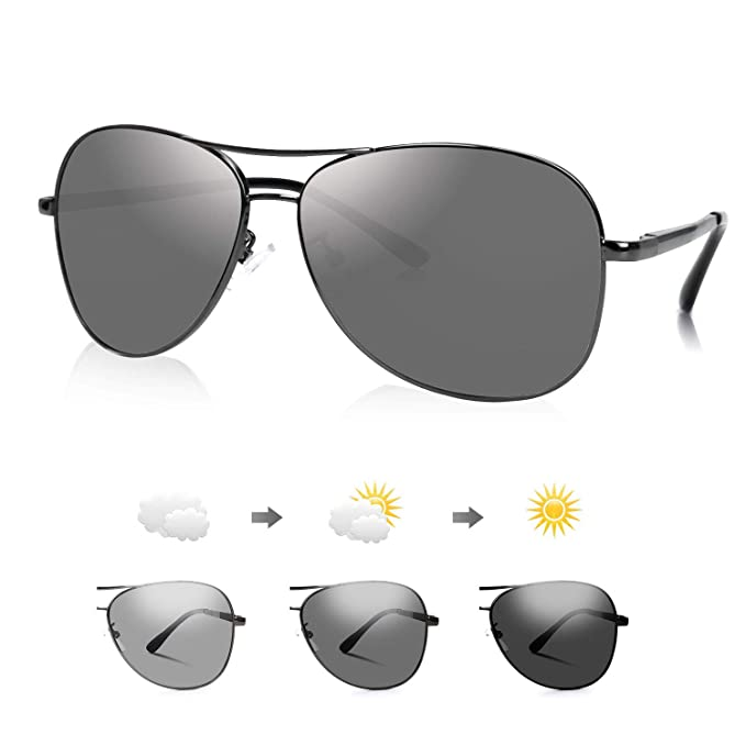 DON PEREGRINO Gafas de Sol Hombre Mujer Polarizadas HHSG 64 con Lentes de Colores Cambiables