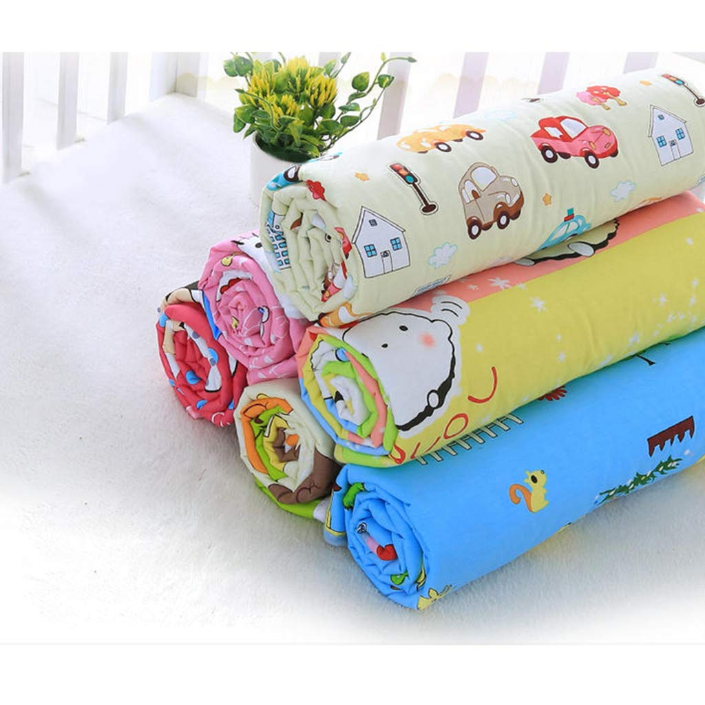 Blue D DOLITY Baby Mattress Waterproof Changing Pad Diapering Sheet Protector Menstrual Pads as described