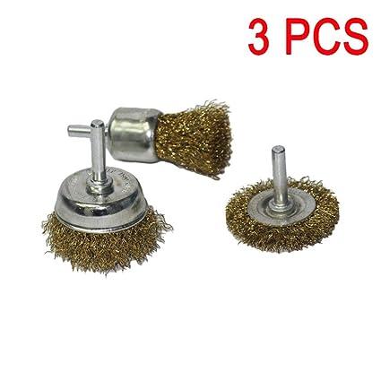 Brosse en acier acier de 3 brosses fils brosse de brosses m/étalliques