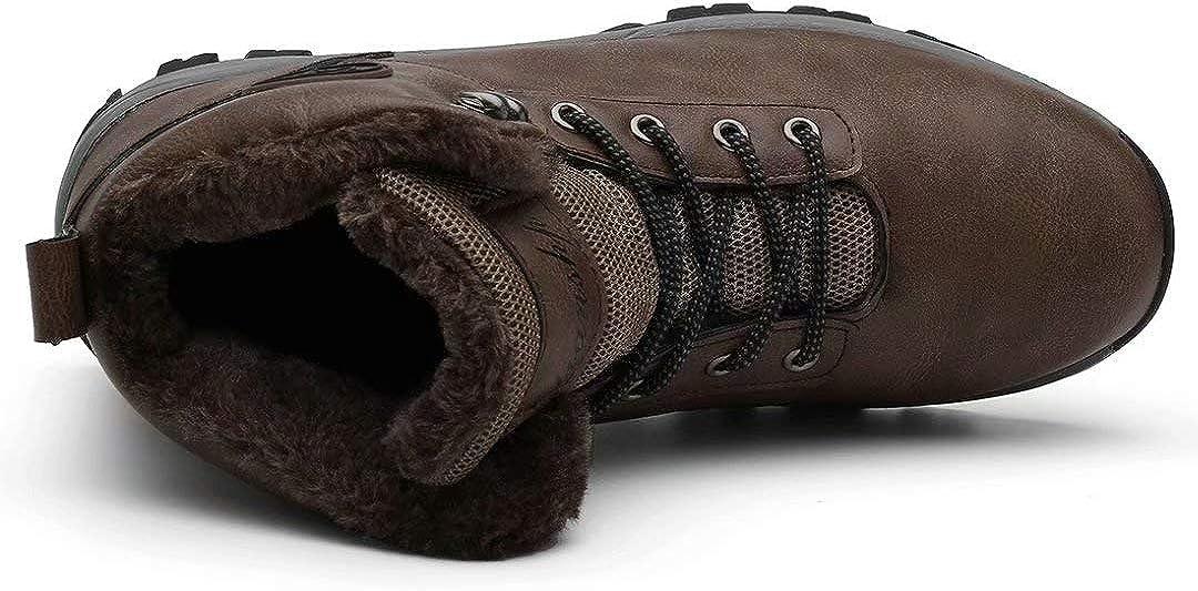 Lianshp Bottes de Neige Chaussures dhiver Chaudes pour Hommes Bottes de randonn/ée