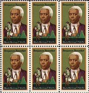 BENJAMIN BANNEKER BLACK HERITAGE ASTRONOMER HISTORY 1804 Block Of 6 X