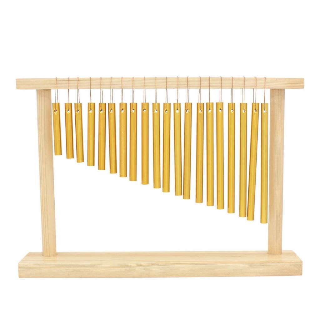 gazechimp Golden 20 Tone Windchime Chimes Bells W/Mallet Child Percussion Toy
