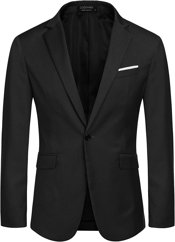 MAXMODA Blazer Uomo Slim Fit Giacca Blazer Casual Blazer Elegante