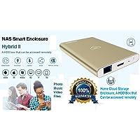 Microware Hybrid2 WiFi Router SATA USB 3.0 HDD NAS Aluminium HDD WiFi Storage External Hard Disk Enclosure NASI Cloud Case