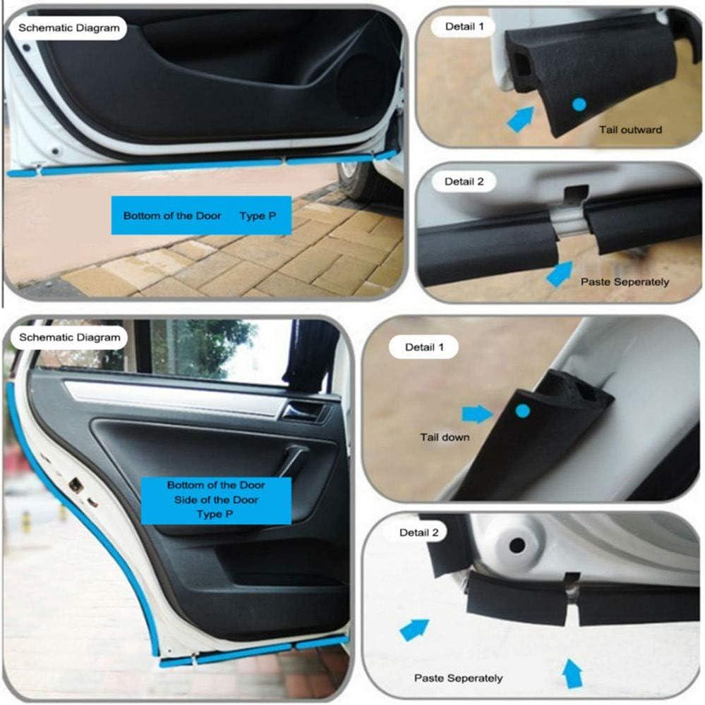 SHENGYAWAUTO Z-Shape Window Door Rubber Seal Strip Hollow Weatherstrip for Car Motor 4M 13FT