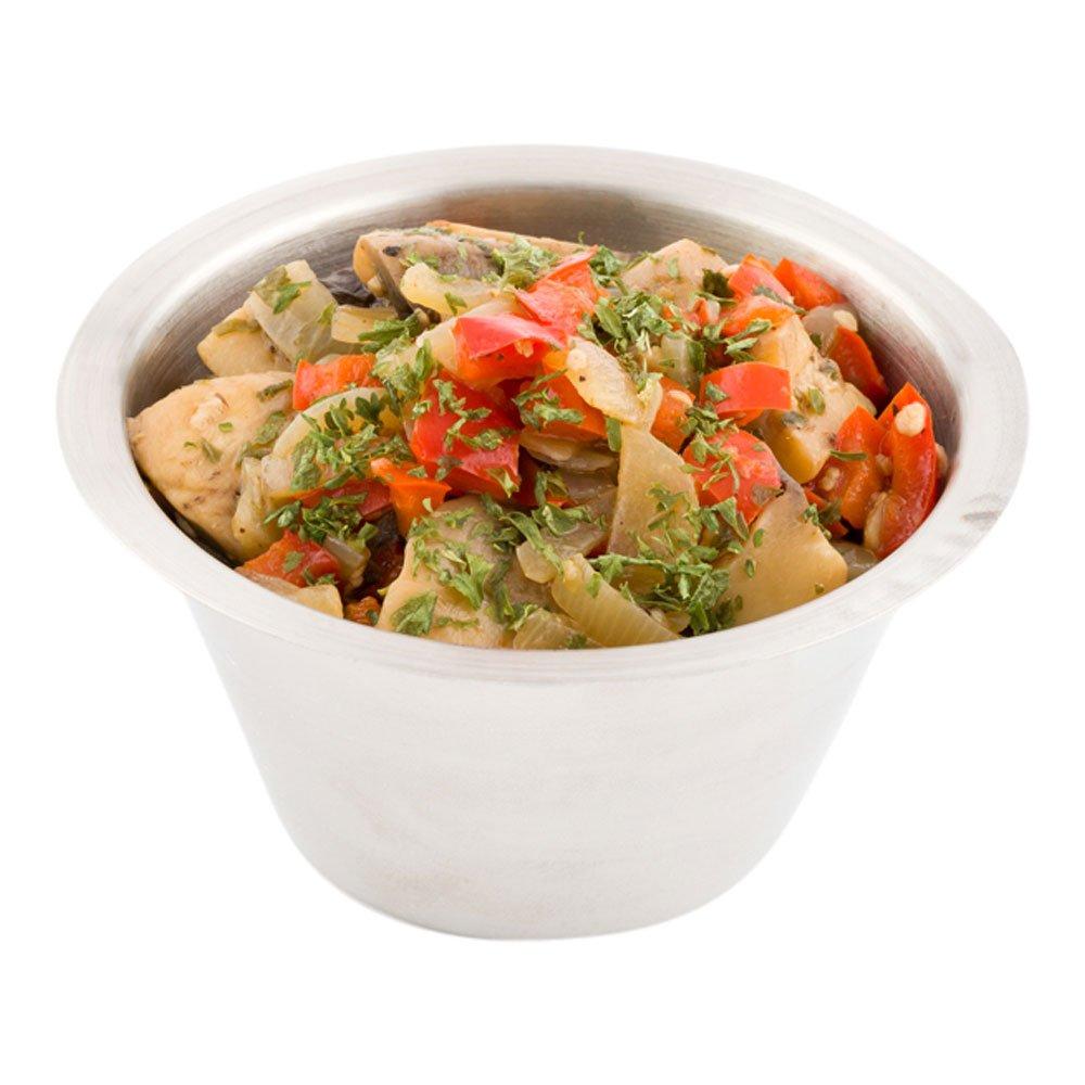 Stainless Steel Condiment Cup, Ramekin, Sauce Cup - Round - 6 oz - 10ct Box - Restaurantware