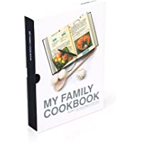 Suck UK My Family Cookbook Recipe Journal, Black
