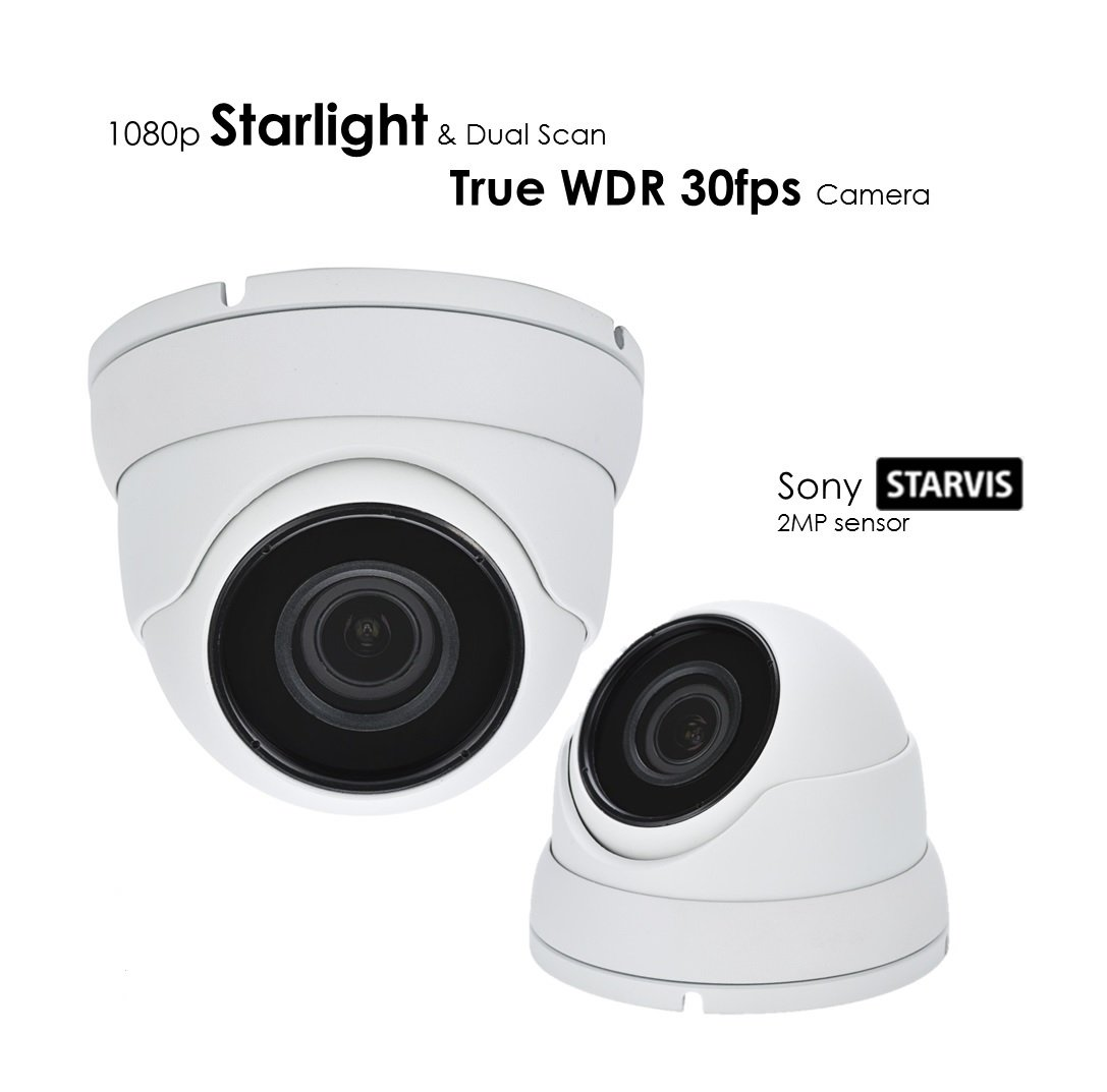 AED 1080P EX-SDI/HD-SDI/TVI SONY STARLIGHT CMOS TRUE WDR 30fps WITH DUAL SCAN, 4 in 1 SMD IR DOME CAMERA WITH 3MP MOTORIZED AF 2.8MM~12MM PREMIUM LENS AND TINTED GLASS