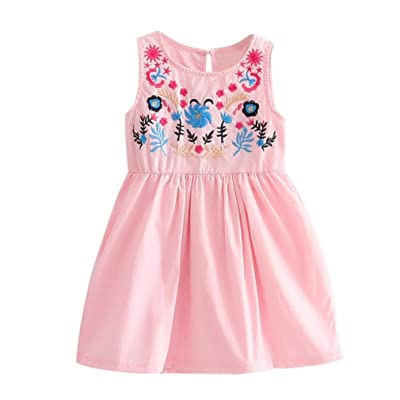 Funic Toddler Baby Girls Sleeveless Princess Dress Party Pageant ...