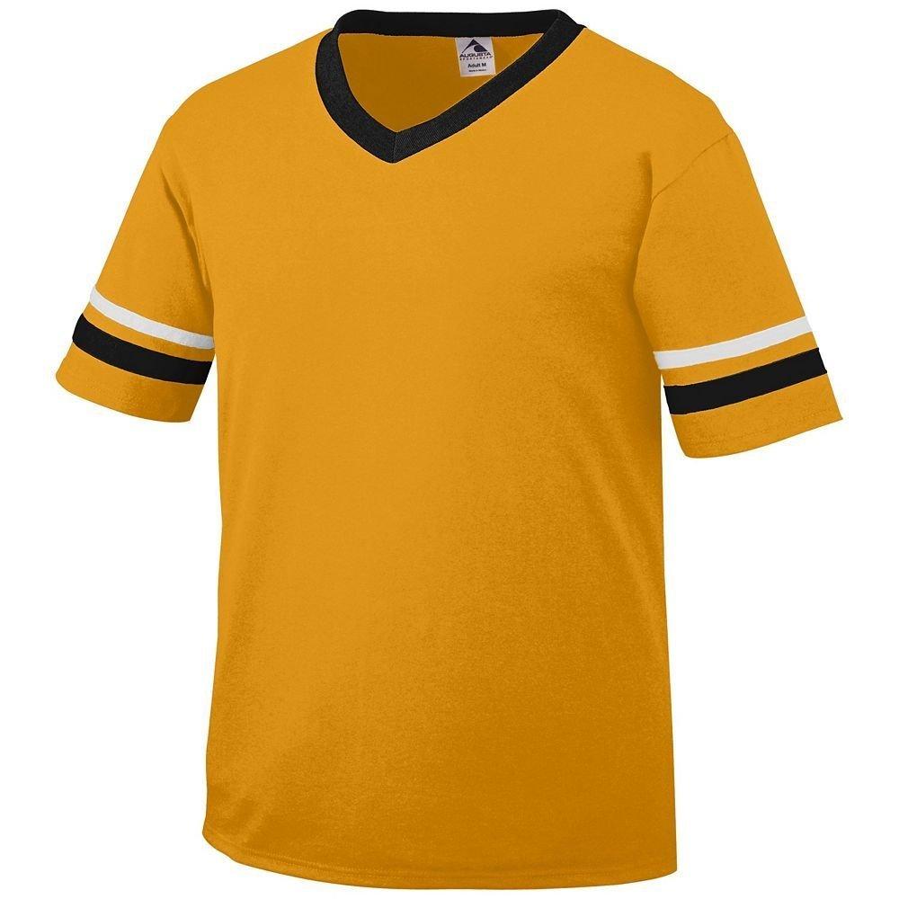 Augusta Sportswear Sleeve Stripe Jersey – Boys ' B00ID7J1JI Medium|ゴールド/ブラック/ホワイト ゴールド/ブラック/ホワイト Medium