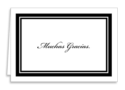 Amazon muchas gracias greeting cards with envelopes simple muchas gracias greeting cards with envelopes simple blank black imprint 12 count m4hsunfo