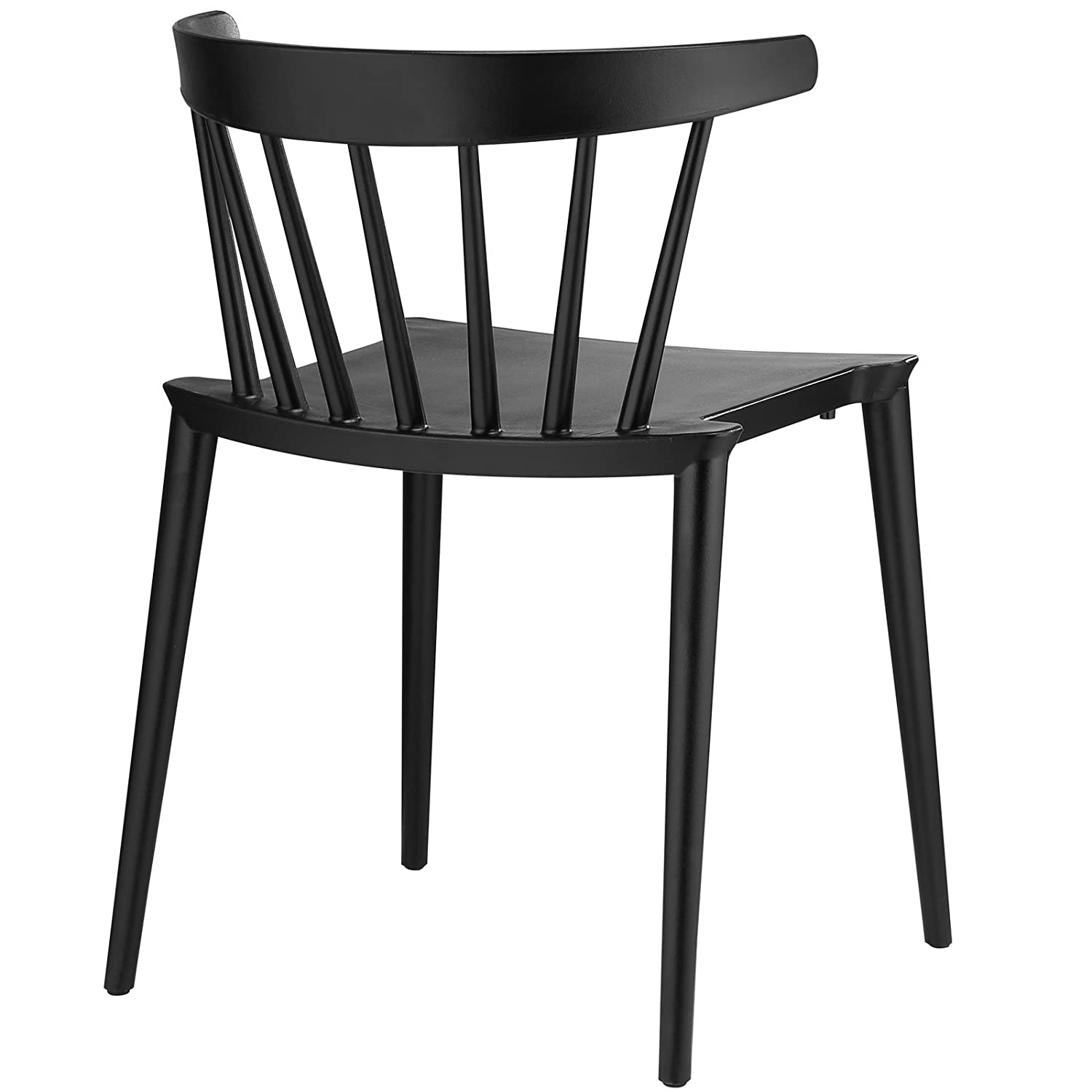 Amazon LexMod Spindle Dining Side Chair Black Chairs