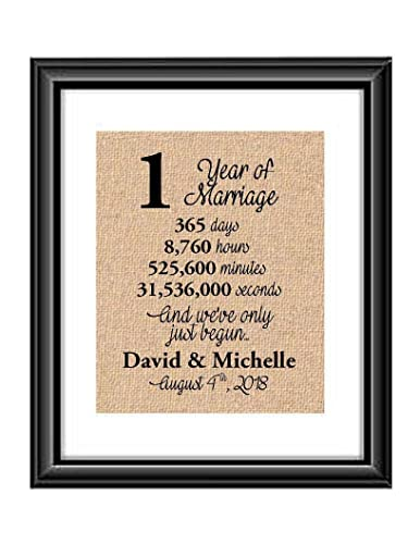 Amazon Com Personalized 1st Anniversary Gift 1 Year Wedding Anniversary Gift For Couples 1 Year Of Marriage Gift For Wife Or Husband 1st Anniversary Gift For Her Or Him Handmade