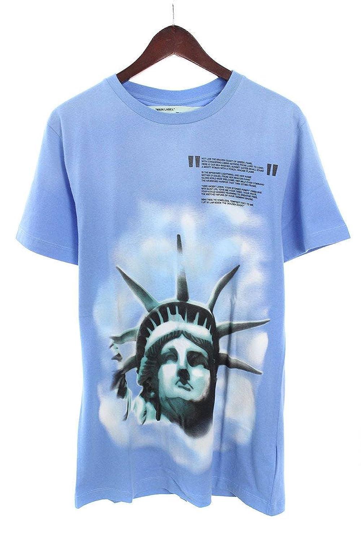 (オフホワイト) OFF-WHITE 【18AW】【LIGHT BLUE LIBERTY S/S T-SHIRT】リバティープリントTシャツ(S/ブルー) 中古 B07FQLV2W4  -