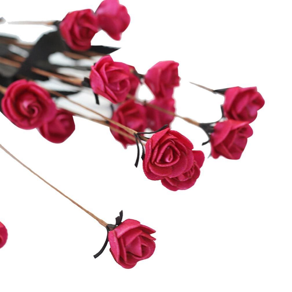 Xshuai Artificial Pe Fake Flowers Rose Floral Wedding Bouquet