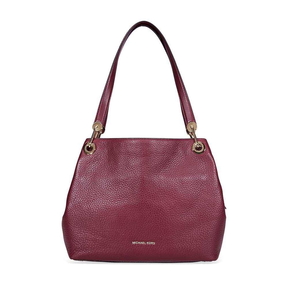 Michael Kors Women's Raven Large Leather Shoulder Bag (Oxblood)