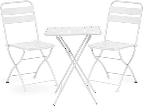 SKLUM Pack Mesa Plegable para Exterior (60x60 cm) Janti & 2 ...