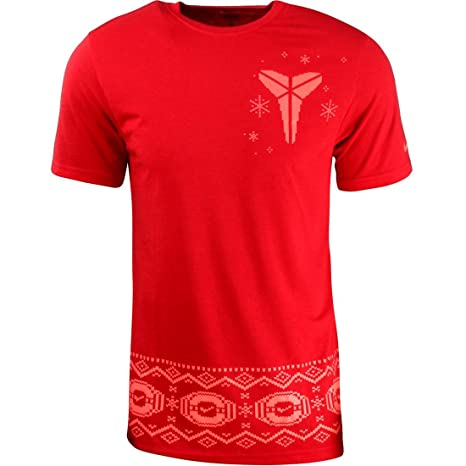d7cd19fd3284 Amazon.com   Nike Men s KOBE Christmas Black Mamba Basketball T ...