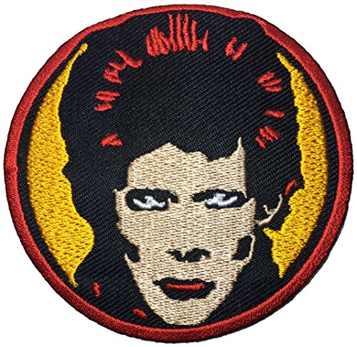 David Bowie size 7.5cm song Music ROCK N ROLL Punk Heavy Metal Band Logo Jacket Vest shirt hat blanket backpack T shirt Patches Embroidered Appliques Symbol Badge Cloth Sign Costume