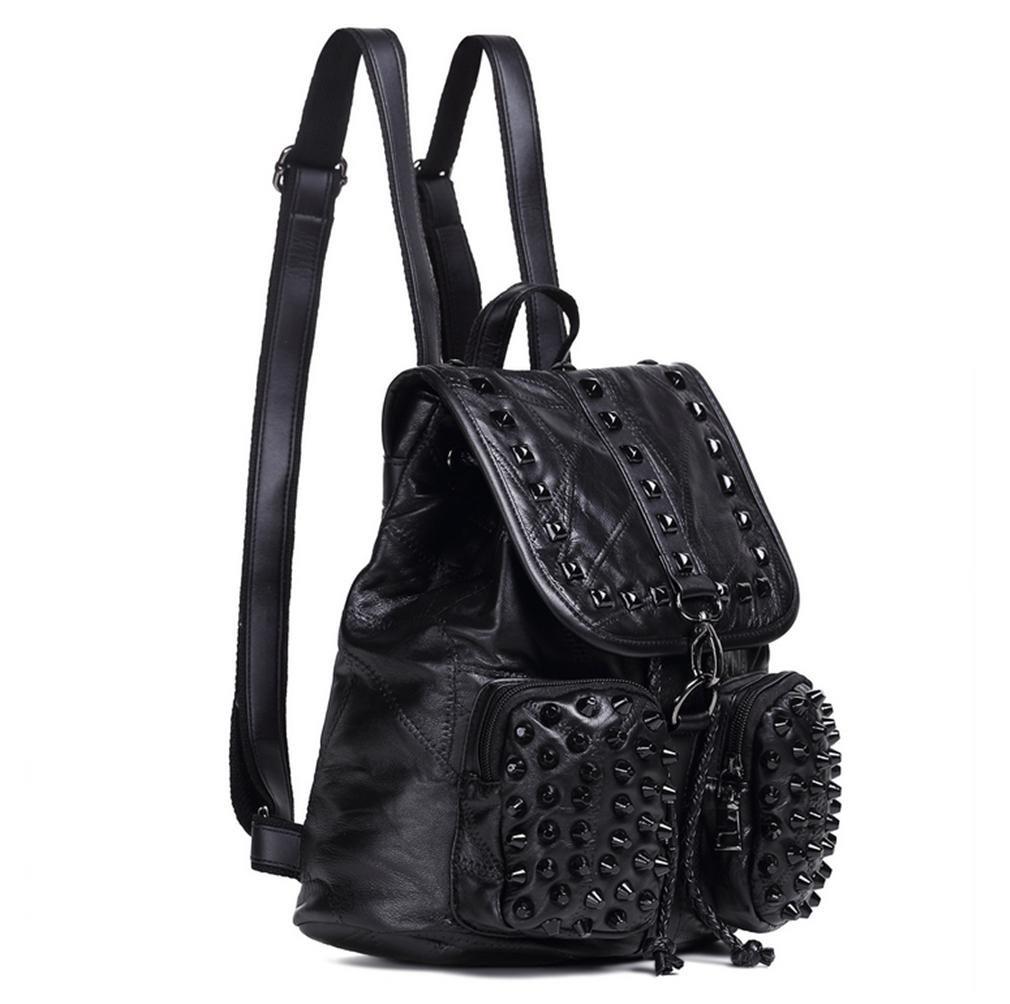 Las mujeres Srivet tachas cuero suave Lampskin mochilas: Amazon.es: Deportes y aire libre